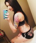 amateur photo Inked hottie