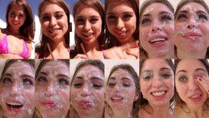 amateur photo Riley Reid - Cumslut Blowbang Collage