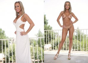 amateur photo Hot Milf Long White Dress On/ Off