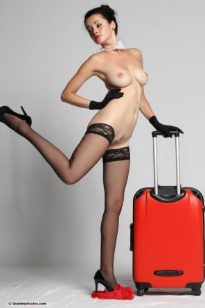 amateur photo Love her luggage