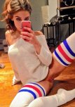 amateur photo Thigh-Hi Socks
