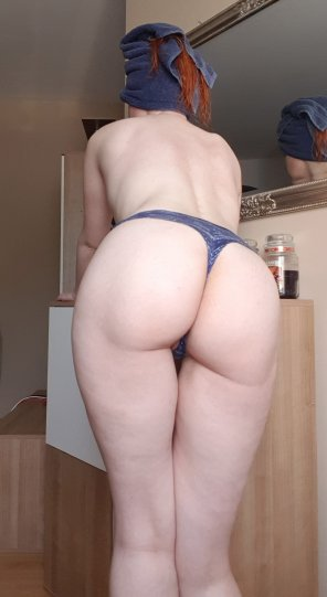 amateur photo Nice clean ass after a hot shower