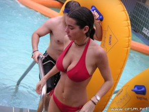 amateur photo Red swimsuit