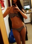 amateur photo Brunette teen in bikini