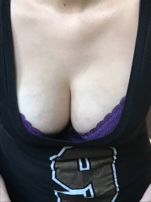 amateur photo Football and tits...perfect