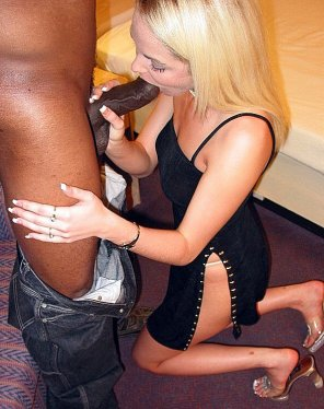 amateur photo blonde sucks black dick