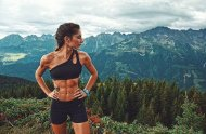 Abs and scenery..