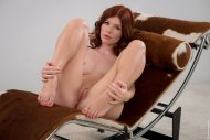 Pretty Redhead with her Knees Up