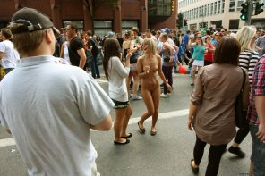 amateur photo Naked It In The Streets and nobody Seems to Care