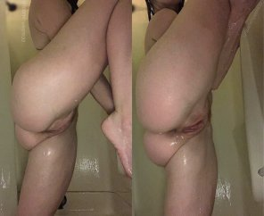amateur photo Shower sex can be hard, get yourself a [f]lexible girl 😉