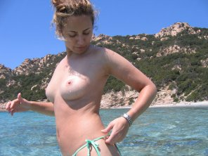 amateur photo Tits in the sun