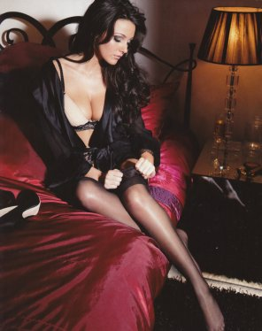 amateur photo Michelle Keegan in stockings.