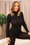 amateur photo Stacey Poole wearing black