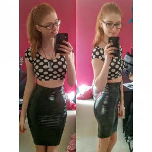 amateur photo Pencil skirt