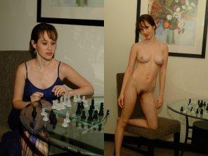 amateur photo Naked chess