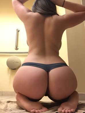 amateur photo She gets down on her knees