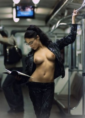 amateur photo Sexy in the subway