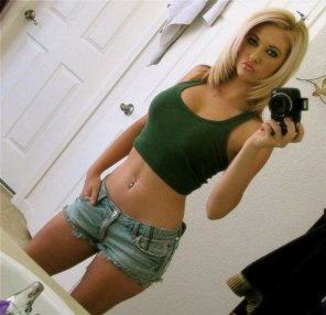 amateur photo Tank top and shorts