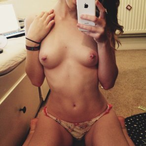 amateur photo Panties and pierced nips