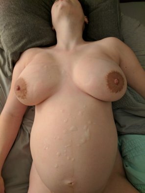 amateur photo My lovely curvy wife with a big load