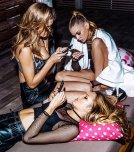 amateur photo Josephine Skriver, Stella Maxwell and Romee Strijd