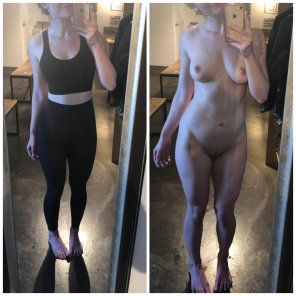 amateur photo Be[F]ore and after yoga