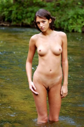amateur photo Standing in a river, looking fantastic