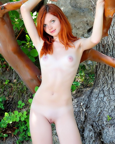 Perfect Teen Redhead Naked Outdoors Porn Photo