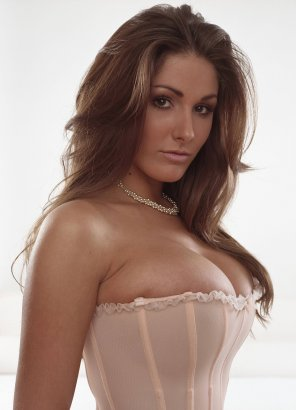 amateur photo Lucy Pinder bursting out of her corset