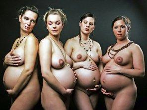amateur photo Four women
