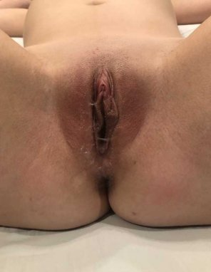 amateur photo My wife's freshly fucked pussy