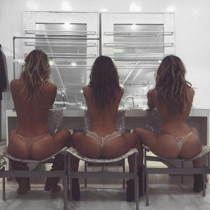 amateur photo Three tight booties