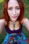 amateur photo Blue eyed redheaded hipster