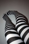 amateur photo White Socks with black stripes POV