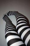 amateur photo White Socks with black stripes POV