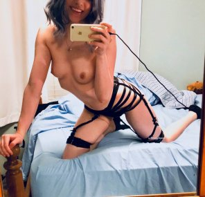 amateur photo my happy, strappy self for your fappy pleasure [19f]