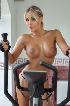 amateur photo Ms. Marie loves the Gym