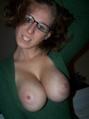 amateur photo bursting out of her sweater
