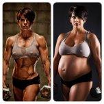 amateur photo pregnant muscles