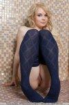 amateur photo Blue stockings