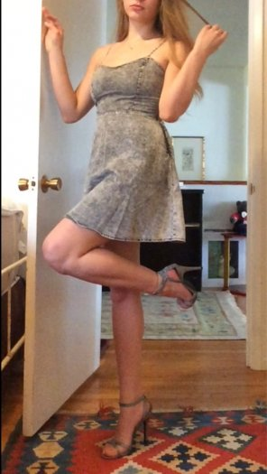 amateur photo Little grey dress