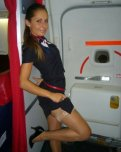 amateur photo Sexy flight attendant