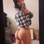 amateur photo Tianna Gregory in a red thong.