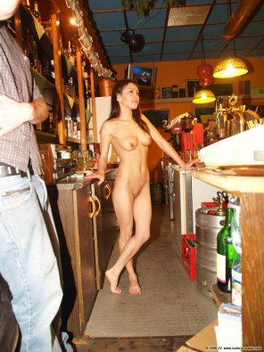 amateur photo Behind the bar