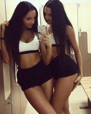 amateur photo Stunning twins