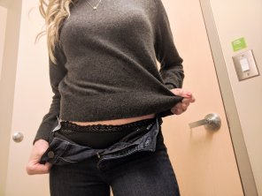 amateur photo Just a peek at what a girl has under her jeans. [f]