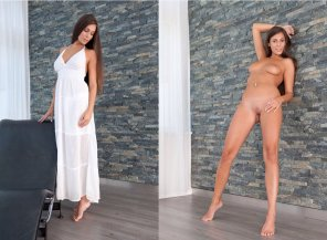 amateur photo Tall, Goreous Brunette
