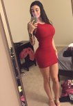 amateur photo Slimming Red Dress