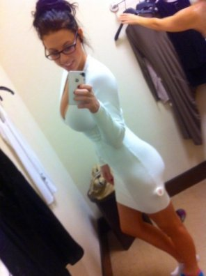 amateur photo Gorgeous body in a tight dress.