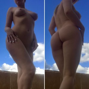 amateur photo Different views o[f] me and summer sky